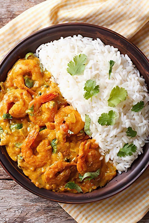 Photo de la recette crevettes l 39 indienne - Cuisiner l aubergine facile ...